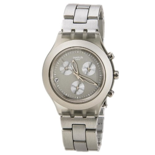 スウォッチ 腕時計 メンズ Swatch SVCG4000AG Men's Full-Blooded Smoky Grey Dial Aluminum Bracelet Chronoスウォッチ 腕時計 メンズ