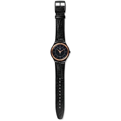 スウォッチ 腕時計 メンズ 【送料無料】Swatch Black Nachtigall Unisex Watch YWB403スウォッチ 腕時計 メンズ