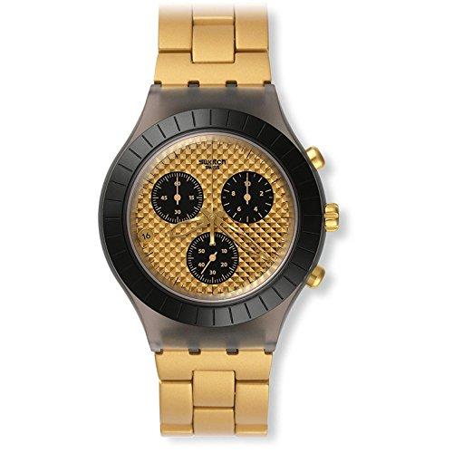 スウォッチ 腕時計 メンズ Swatch Men's Irony SVCM4010AG Gold Plastic Swiss Quartz Watchスウォッチ 腕時計 メンズ