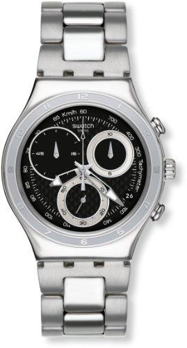 スウォッチ 腕時計 メンズ 【送料無料】Swatch YCS545G Men's Oblique Black Dial Stainless Steel Chronograph Watchスウォッチ 腕時計 メンズ