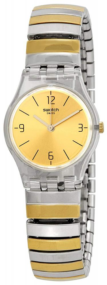 スウォッチ 腕時計 レディース Swatch Enilorac Gold Dial Two-tone Ladies Watch LK351Aスウォッチ 腕時計 レディース