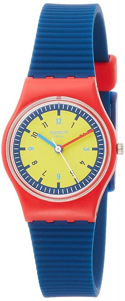 スウォッチ 腕時計 レディース Swatch Women's Lady LR131 Red Silicone Swiss Quartz Fashion Watchスウォッチ 腕時計 レディース