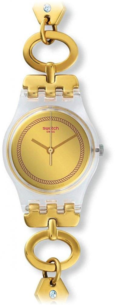 スウォッチ 腕時計 レディース 【送料無料】Swatch Women's Originals LK346G Gold Stainless-Steel Swiss Quartz Watchスウォッチ 腕時計 レディース