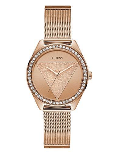 ゲス GUESS 腕時計 レディース 【送料無料】GUESS Rose Gold-Tone Glitz Logo Mesh Bracelet Watch. Color: Rose Gold-Tone (Model: U1142L4)ゲス GUESS 腕時計 レディース