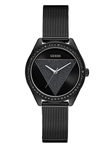 ゲス GUESS 腕時計 レディース GUESS Black Ionic Plated Logo Crystal Mesh Bracelet Watch. Color: Black (Model: U1142L3)ゲス GUESS 腕時計 レディース