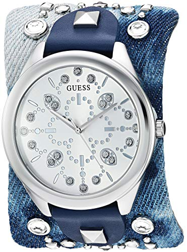 ゲス GUESS 腕時計 レディース GUESS Women's Stainless Steel Quartz Leather Calfskin Strap, Blue, 51.6 Casual Watch (Model: U1139L1)ゲス GUESS 腕時計 レディース