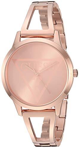 ゲス GUESS 腕時計 レディース 【送料無料】GUESS Rose Gold-Tone Logo Watch with Self-Adjustable Bracelet. Color: Gold-Tone (Model: U1145L4)ゲス GUESS 腕時計 レディース
