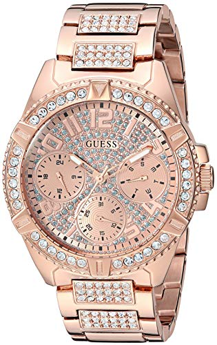 ゲス GUESS 腕時計 レディース GUESS Rose Gold-Tone Stainless Steel Crystal Watch with Day, Date + 24 Hour Military/Int'l Time. Color: Rose Gold-Tone (Model: U1156L3)ゲス GUESS 腕時計 レディース