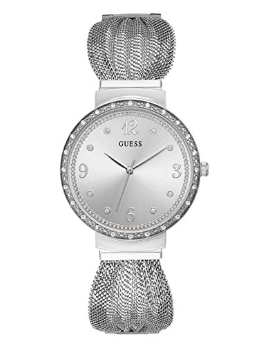 ゲス GUESS 腕時計 レディース 【送料無料】GUESS Crystal Accented Stainless Steel Mesh Bracelet Watch. Color: Silver-Tone (Model: U1083L1)ゲス GUESS 腕時計 レディース