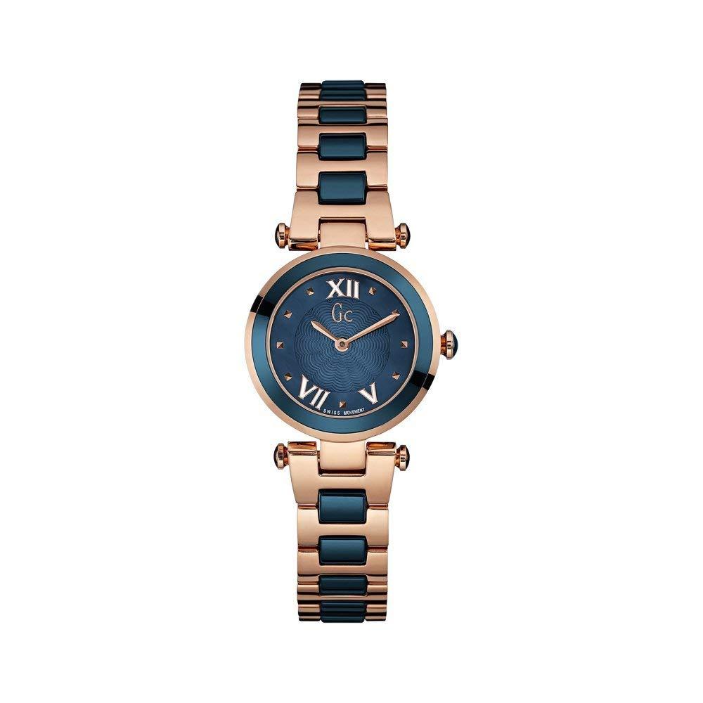 ゲス GUESS 腕時計 レディース 【送料無料】GC Y07010L7 Ladychic Rose Gold/Blue Two Tone Ladies Watchゲス GUESS 腕時計 レディース