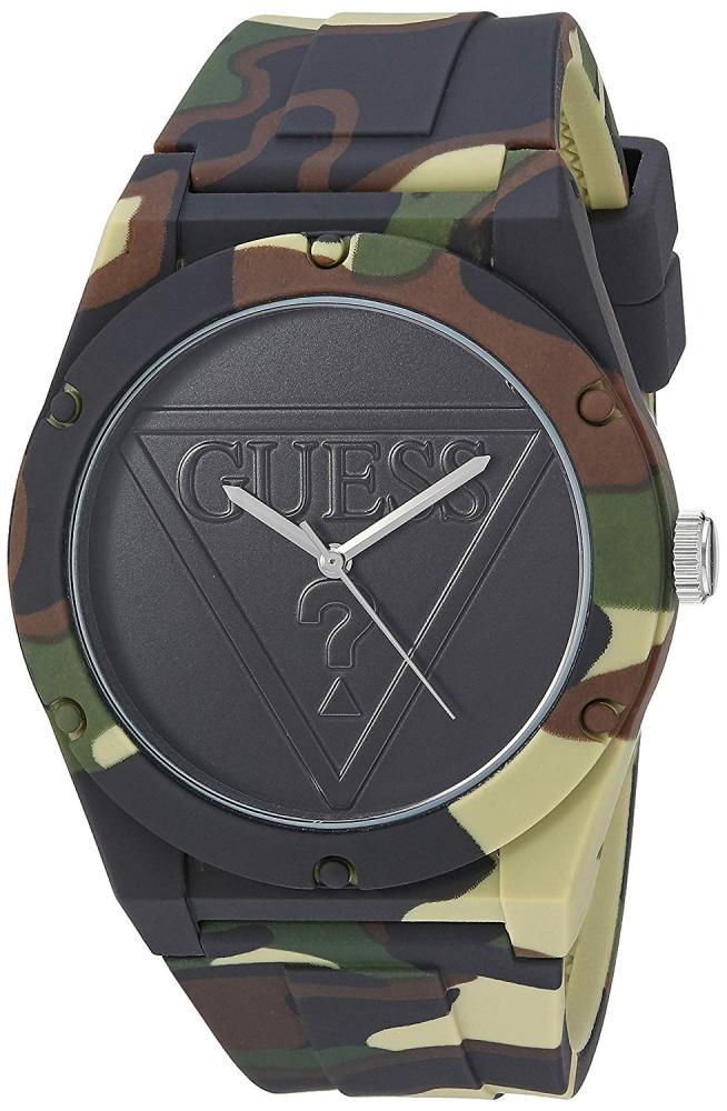 ゲス GUESS 腕時計 レディース GUESS Women's Stainless Steel Quartz Silicone Strap, Green, 20 Casual Watch (Model: U0979L16ゲス GUESS 腕時計 レディース