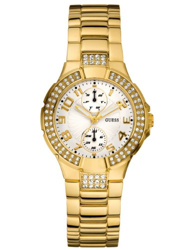 ゲス GUESS 腕時計 レディース Guess LGuess Women's U13002L1 Gold Gold Tone Stainles-Steel Quartz Watch with White Dialゲス GUESS 腕時計 レディース