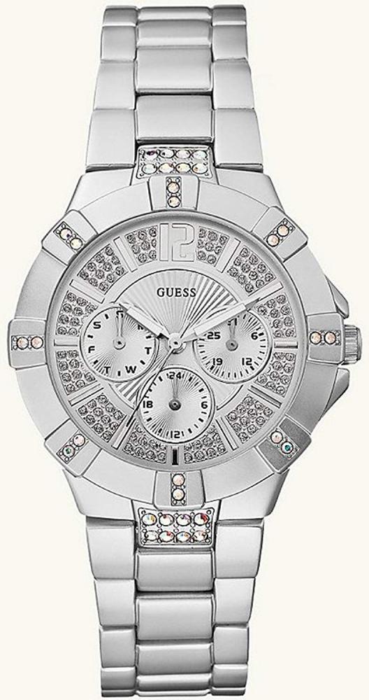 ゲス GUESS 腕時計 レディース GUESS U12657L1 Dazzling Sport Watch - Silverゲス GUESS 腕時計 レディース