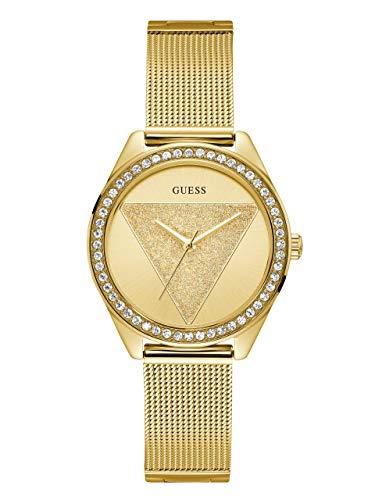 ゲス GUESS 腕時計 レディース GUESS Gold-Tone Glitz Logo Mesh Bracelet Watch. Color: Gold-Tone (Model: U1142L2)ゲス GUESS 腕時計 レディース