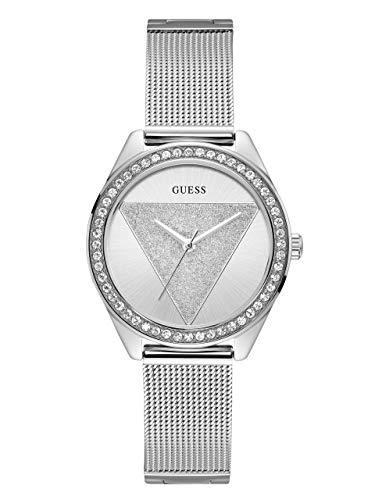 ゲス GUESS 腕時計 レディース GUESS Silver-Tone Glitz Logo Mesh Bracelet Watch. Color: Silver-Toned (Model: U1142L1)ゲス GUESS 腕時計 レディース