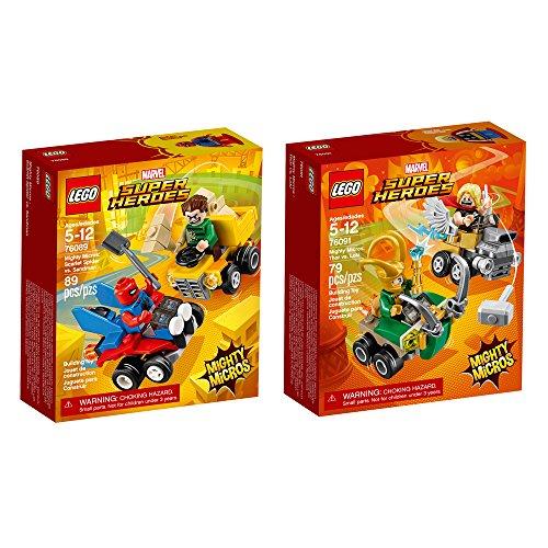 レゴ スーパーヒーローズ マーベル DCコミックス スーパーヒーローガールズ 【送料無料】LEGO Super Heroes Micro Spider Man and Thor 2-Pack Bundle Building Kit (168 Piece) Stackinレゴ スーパーヒーローズ マーベル DCコミックス スーパーヒーローガールズ
