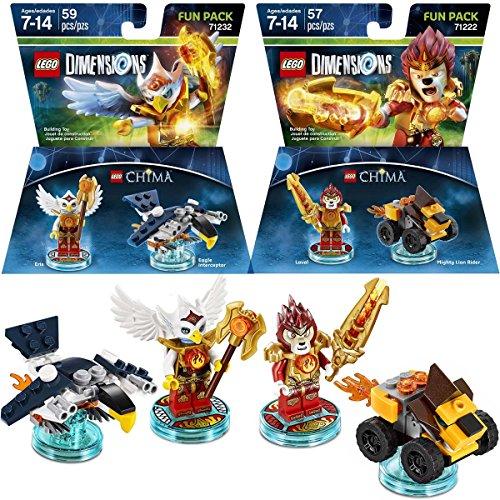 レゴ チーマ LEGO (Set of 2) Dimensions Legends Of Chima Packs, Laval The Lion & Eris The Eagle Lego Games Toysレゴ チーマ