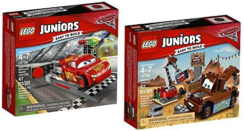 レゴ Lego Juniors Lightning McQueen Speed Launcher AND Lego Juniors Mater's Junkyard BUNDLED - EASY TO BUILD - SETレゴ