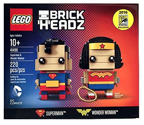 レゴ スーパーヒーローズ マーベル DCコミックス スーパーヒーローガールズ 2016 SDCC Exclusive LEGO Brick Headz DC Comics Superman & Wonder Woman 41490レゴ スーパーヒーローズ マーベル DCコミックス スーパーヒーローガールズ