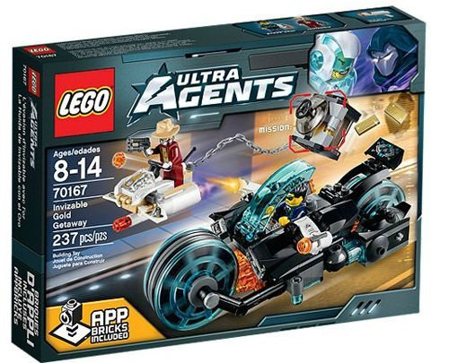 レゴ LEGO Ultra Agents 70167: Invizable Gold Getaway Set New In Box Sealed #70167レゴ