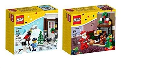 レゴ 2 Christmas Sets: Lego 40124 Winter Fun & 40125 Santa's Visitレゴ