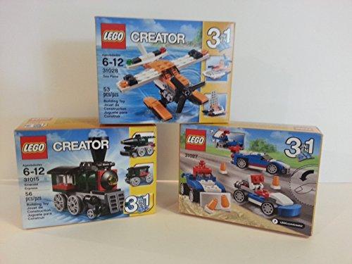 レゴ クリエイター Bundle Lego Creator 3 in 1 Emerald Express 31015, Blue Racer 31027, and Sea Plane 31028レゴ クリエイター