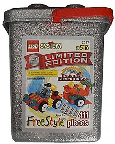 レゴ Vintage Lego Set - 411 Piece Lego System Freestyle 25th Anniversary Limited Edition 3027レゴ