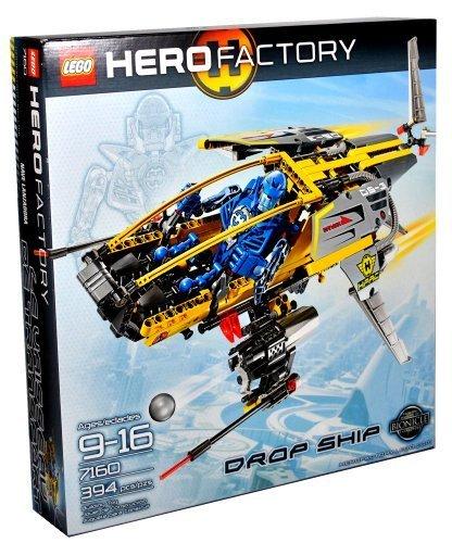 レゴ Lego Hero Factory Series Vehicle Set #7160 - DROP SHIP with Stealth Wings, Fins and Soft Exhaust Hoses Plus Pilot Figure (Total Pieces: 394)レゴ