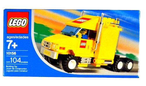 レゴ Lego Year 2004 Exclusive City Series Set #10156 - Yellow Truck with Shiny Chrome Exhaust Pipes, LEGO Logo and License Plate Stickers Plus Driver Minifigures (Total Pieces: 104)レゴ