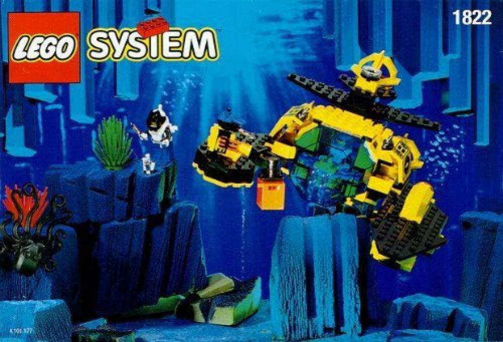 レゴ Rare retired 1995 Lego 1822 Aquazone Sea Claw 7レゴ