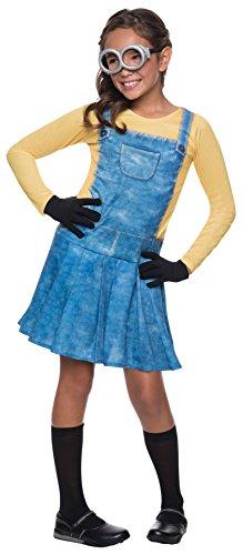 コスプレ衣装 コスチューム ミニオンズ Rubie's Girl's Minion Outfit Funny Theme Fancy Dress Child Halloween Costume, Child M (8-10) Blue/Yellowコスプレ衣装 コスチューム ミニオンズ