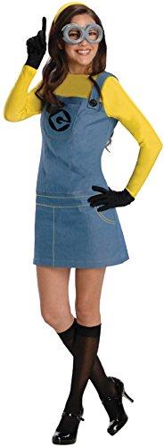 コスプレ衣装 コスチューム ミニオンズ Women's Despicable Me Movie Theme Lady Minion Outfit Halloween Fancy Costume, S (4-6)コスプレ衣装 コスチューム ミニオンズ