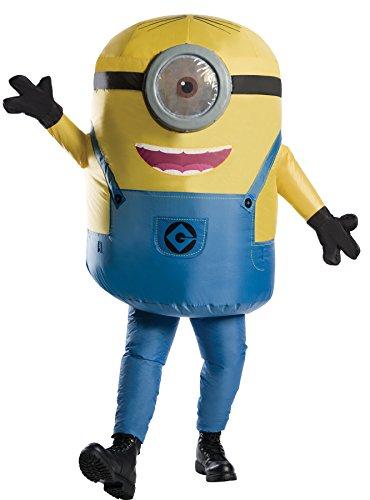 コスプレ衣装 コスチューム ミニオンズ Rubie's Men's Minion Stuart Inflatable Jumpsuit Movie Theme Party Halloween Costume, STD (Up to 44)コスプレ衣装 コスチューム ミニオンズ