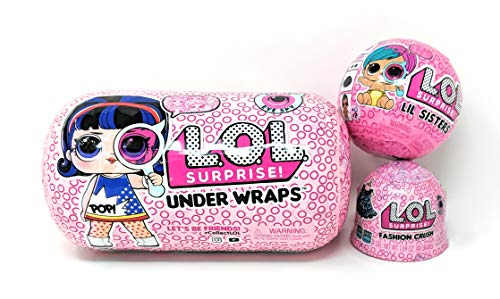 エルオーエルサプライズ 人形 ドール L.O.L. Surprise! Under Wraps Eye Spy Series 4-1 Bundle with LOL Lil Sister Wave 2 and Fashion Crushエルオーエルサプライズ 人形 ドール