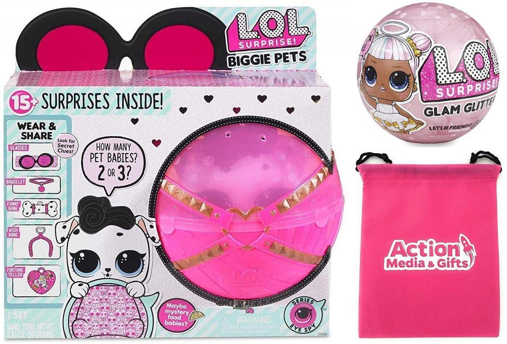 エルオーエルサプライズ 人形 ドール LOL Surprise Biggie Pet Bundle Includes (1) Dollmation + (1) Limited Edition Glitter Glam + Bonus Action Media Storage Bag!エルオーエルサプライズ 人形 ドール