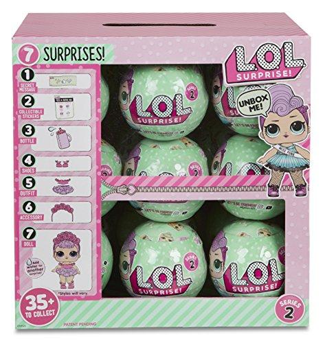 エルオーエルサプライズ 人形 ドール 【送料無料】L.O.L. Surprise Dolls, Series 2, Wave 2 - Full Case Box with 18 Ballsエルオーエルサプライズ 人形 ドール