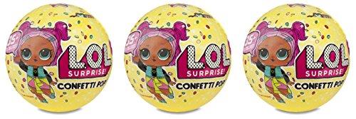 エルオーエルサプライズ 人形 ドール 【送料無料】L.O.L. Surprise set of 3, Includes 3 Confetti pop Series 3 ballsエルオーエルサプライズ 人形 ドール