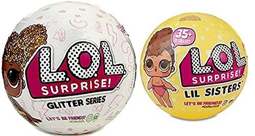 エルオーエルサプライズ 人形 ドール 【送料無料】L.O.L. Surprise set of 2, Includes 1 LOL Glitter Series ball and 1 LOL Lil sistersseries 3 ballエルオーエルサプライズ 人形 ドール