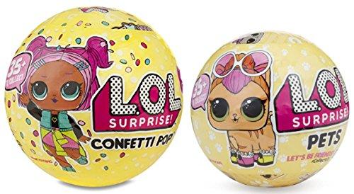 エルオーエルサプライズ 人形 ドール 【送料無料】L.O.L. Surprise! Confetti Pop Series 3 Wave 1 and LOL Surprise Pets Series 3 Set of Two Toysエルオーエルサプライズ 人形 ドール