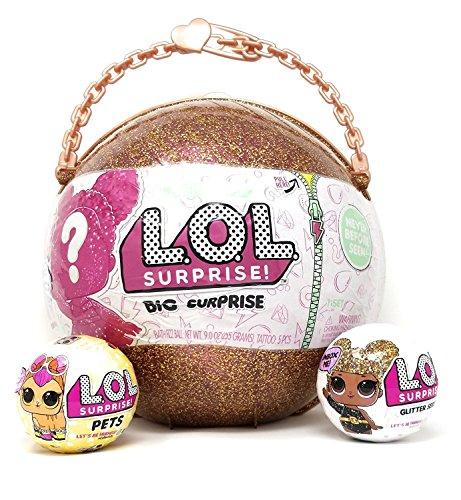 エルオーエルサプライズ 人形 ドール L.O.L Big Surprise! + GLITTER Ball LOL Series + Surprise PETS Series 3 BUNDLE (3 items)エルオーエルサプライズ 人形 ドール