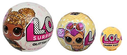 エルオーエルサプライズ 人形 ドール 【送料無料】Bundle Lets Be Friends! Surprise Glitter Doll, Surprise Pet and Surprise Charm Fizz - 3 LOL Surprises!エルオーエルサプライズ 人形 ドール