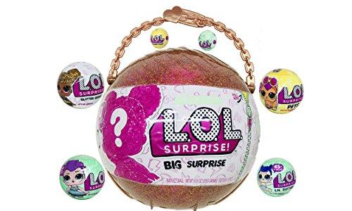 エルオーエルサプライズ 人形 ドール L.O.L. Surprise Bundle (1) LOL Big Surprise (1) Glitter Series (1) Let's Be Friends Series 2, (1) Lil Sister Series 2, (1) Charm Fizz Series 2, (1) LOL Pets Series 3 (1) Charm Fiエルオーエルサプライズ 人形 ドール