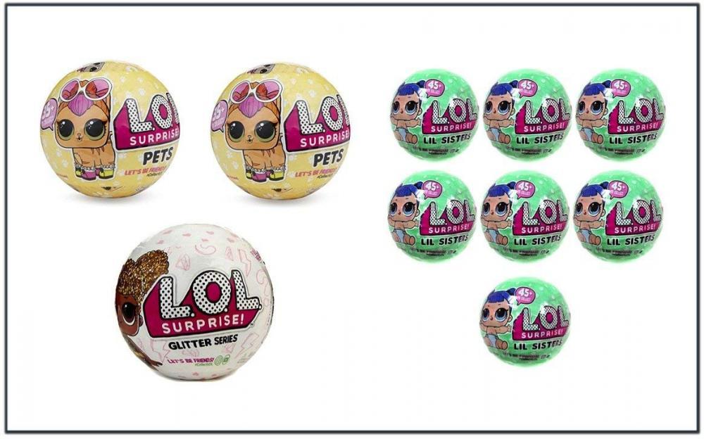エルオーエルサプライズ 人形 ドール L.O.L. SURPRISE Mega Bundle with 2 LOL SURPRISE! Pets, 7 L.O.L. LIL SISTERS and 1 L.O.L. GLITTER SERIS Dollsエルオーエルサプライズ 人形 ドール