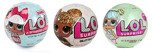 エルオーエルサプライズ 人形 ドール Bundle Lets Be Friends! Surprise Glitter Doll, Series 1 Surprise Doll and Series 2 Surprise Doll - 3 LOL Surprises!エルオーエルサプライズ 人形 ドール