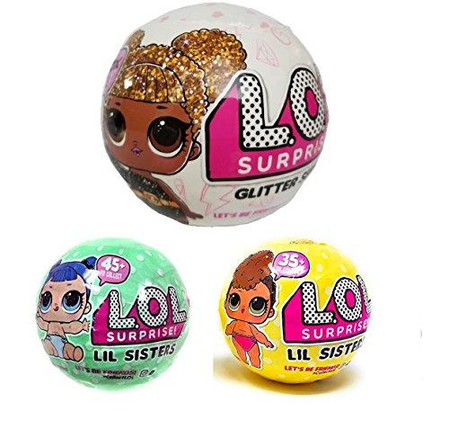 エルオーエルサプライズ 人形 ドール 【送料無料】Bundle Lets Be Friends! Surprise Glitter Doll and Two Lil Sisters - 3 LOL Surprises!エルオーエルサプライズ 人形 ドール
