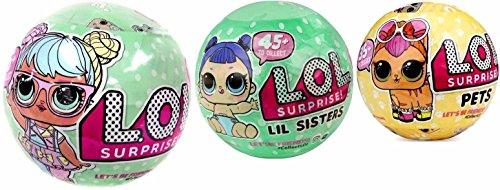 エルオーエルサプライズ 人形 ドール L.O.L. Bundle Lets Be Friends! Series 2, Lil Sister and Surprise Pet - 3 LOL Surprise Dollsエルオーエルサプライズ 人形 ドール