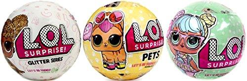 無料ラッピングでプレゼントや贈り物にも 逆輸入並行輸入送料込 エルオーエルサプライズ 人形 ドール 送料無料 Bundle 売店 Lets Be Friends 3 格安SALEスタート 2 Series Pets Dollsエルオーエルサプライズ - Glitter Surprise L.O.L.