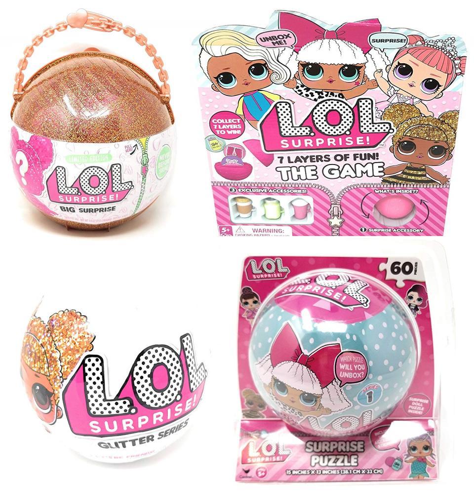 エルオーエルサプライズ 人形 ドール Cardinal Games L.O.L. Surprise! 7 Layers of Fun The Game, Glitter Ball and Puzzle Bundleエルオーエルサプライズ 人形 ドール