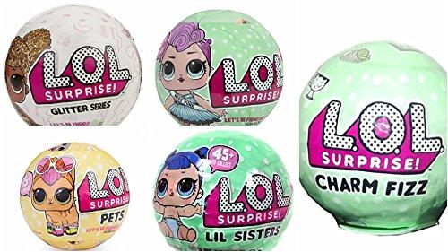 無料ラッピングでプレゼントや贈り物にも。逆輸入・並行輸入多数 エルオーエルサプライズ 人形 ドール Set Of 5 LOL Surprise Glitter Series , Lol Pets, Lets be Friends, Little sister, Charm Fizz.エルオーエルサプライズ 人形 ドール