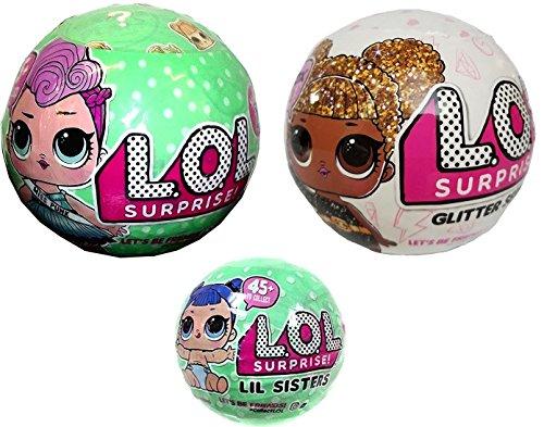 エルオーエルサプライズ 人形 ドール Bundle Lets Be Friends! Miss Punk, Her Lil Sister and Glitter Series - 3 LOL Surprise Dollsエルオーエルサプライズ 人形 ドール